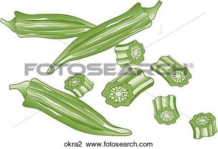 Clip Art of Okra okra2.