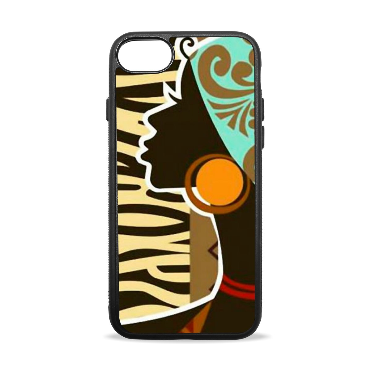 iphone 7 plus Case, BAIHUISHOP African Clipart Pattern Pattern TPU Bumper +  Scratch Resistant PC Hard Back Cover Clear with Design Case for Apple.