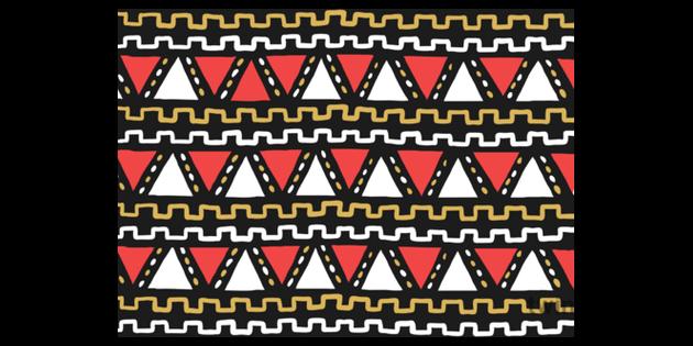 African Pattern Illustration.