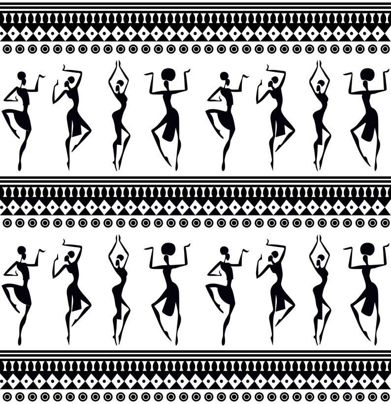African pattern. SVG Dxf EPS Png JPG Pdf Vector Art Clipart instant  download Digital Cut Print File Cricut Silhouette Decal Shirt.