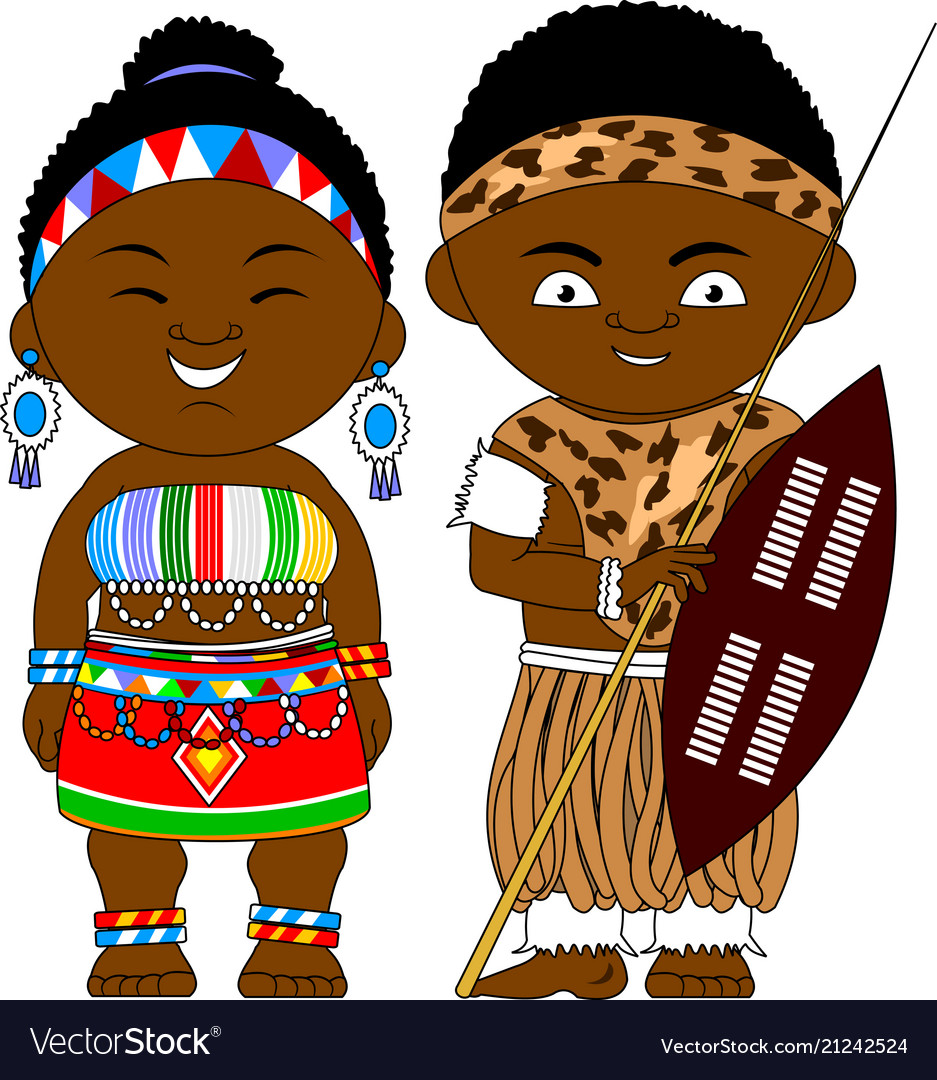 Cheerful african couple from south africa republic.