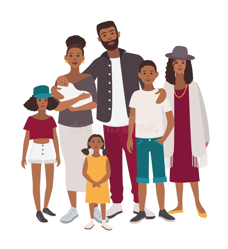 African People Stock Illustrations.