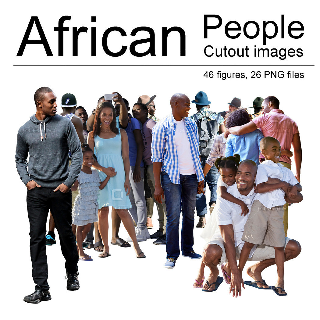 African People Cutouts.