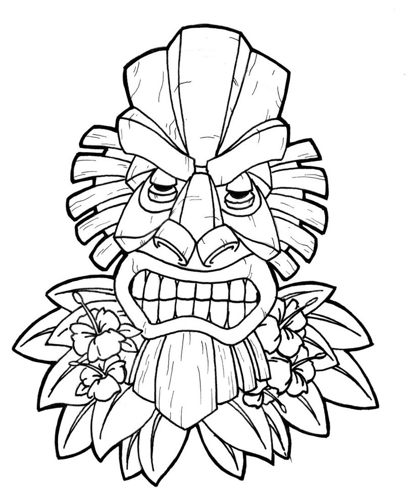 African Masks Coloring Pages.