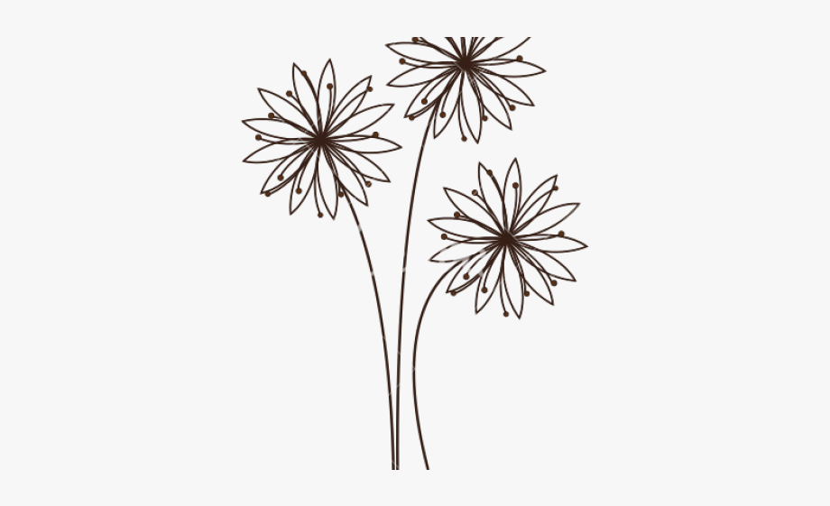 Daisy Flower Outline.