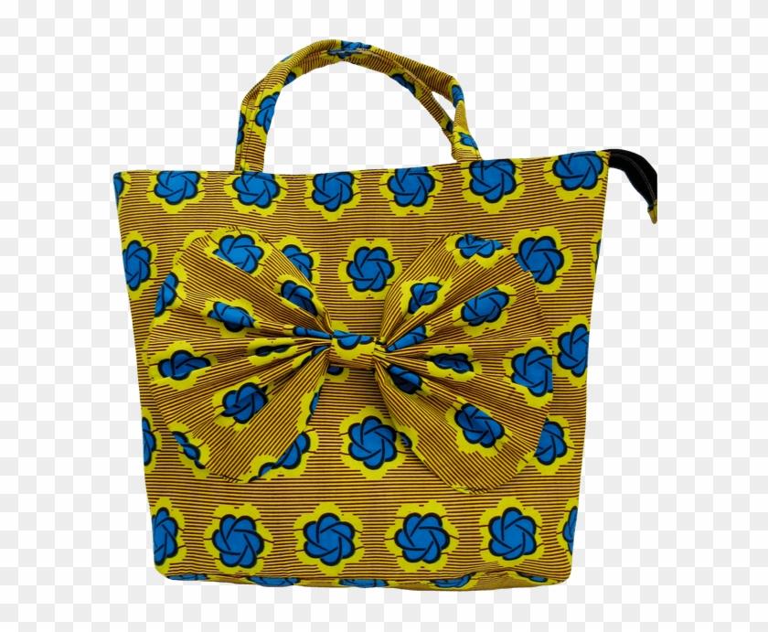 Gorgeous Blue And Yellow Handmade African Print Handbag.
