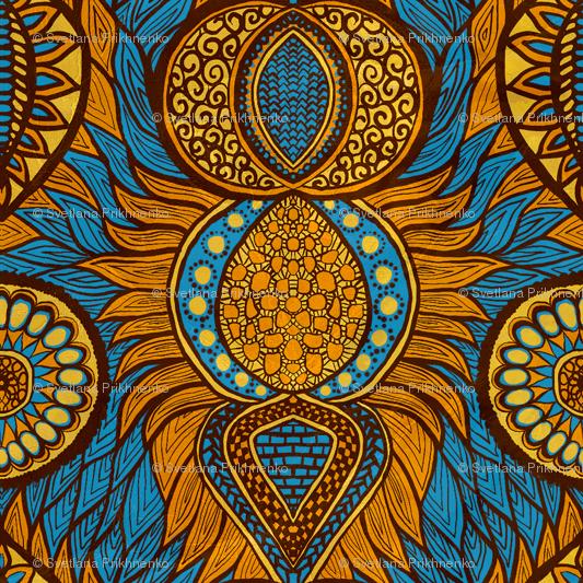 African Print wallpaper.