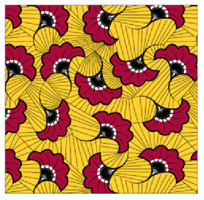4 WAY Stretch African Print Red, Yellow Flower.