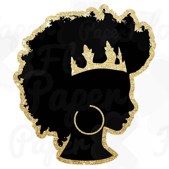 crown clipart silhouette png afrocentric png afro puff girl.