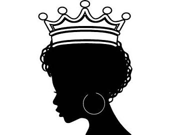 Black African Queen Silhouette.