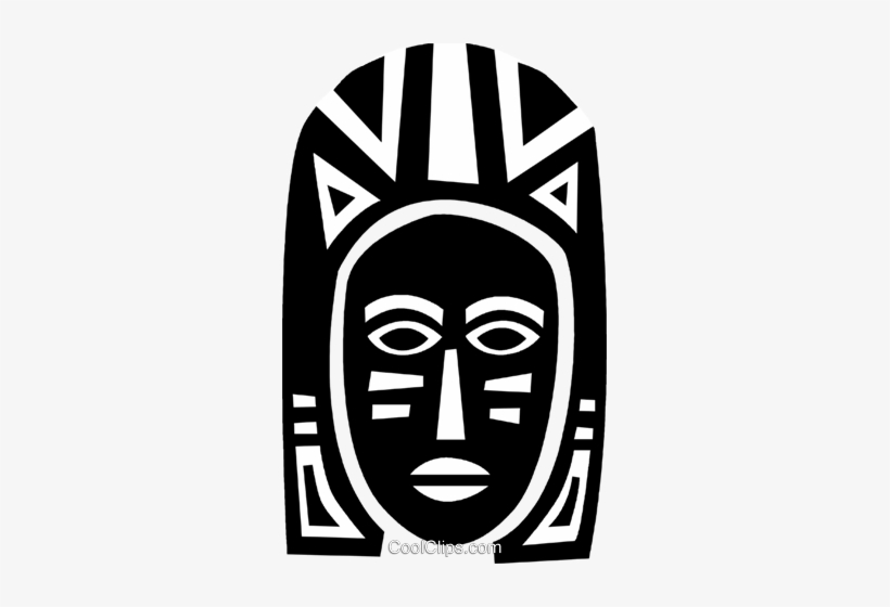 African Mask Royalty Free Vector Clip Art Illustration.