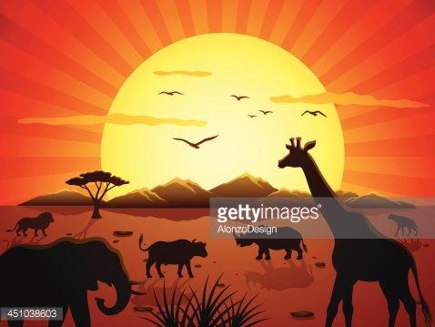 African Safari premium clipart.
