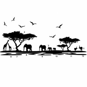 Details about DIY African Safari Landscape Wall Mural Decal Removable  Sticker Art Room Decor.