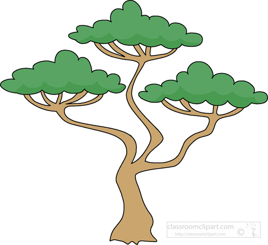 African Trees Clipart.