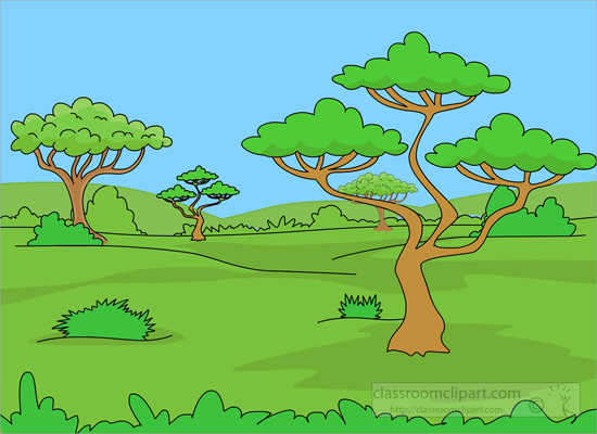 African savanna clipart.