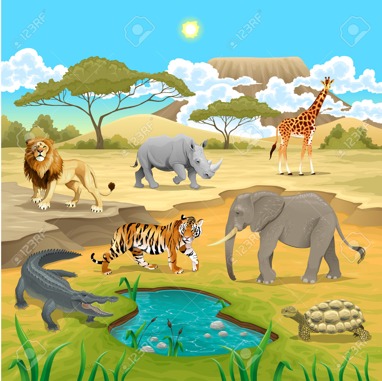 Africa nature clipart.