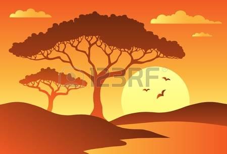 2,317 Savannah Landscape Stock Vector Illustration And Royalty.