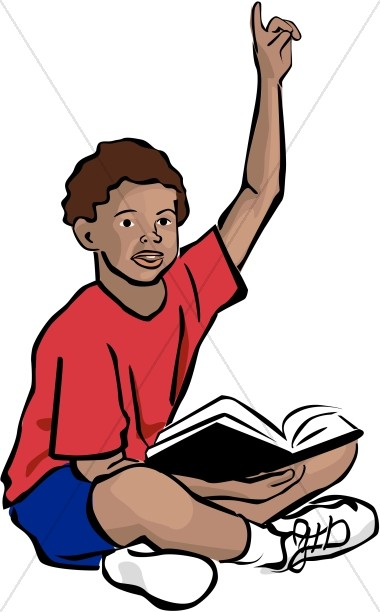 African American Youth with Bible.
