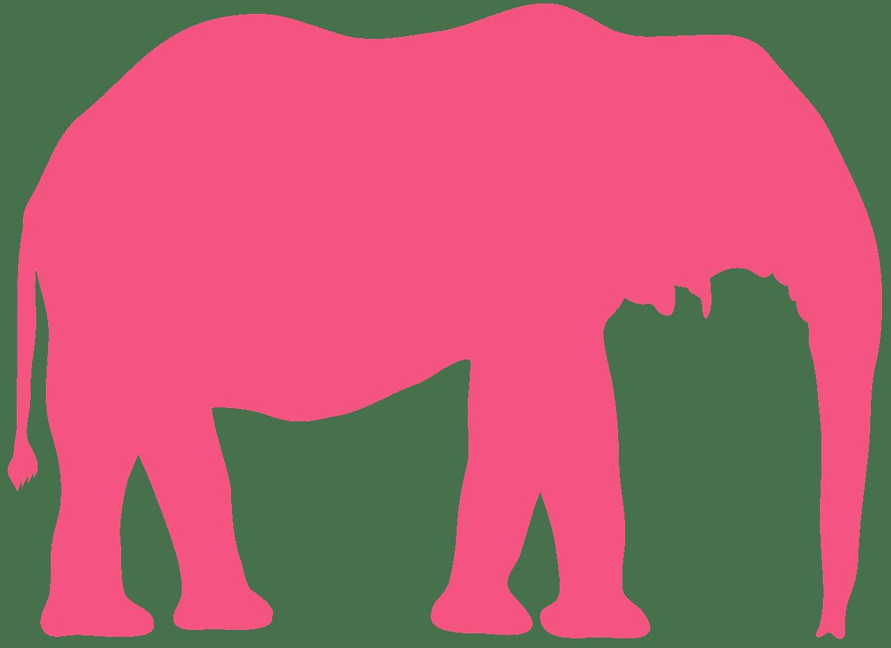 African Bush Elephant silhouette.