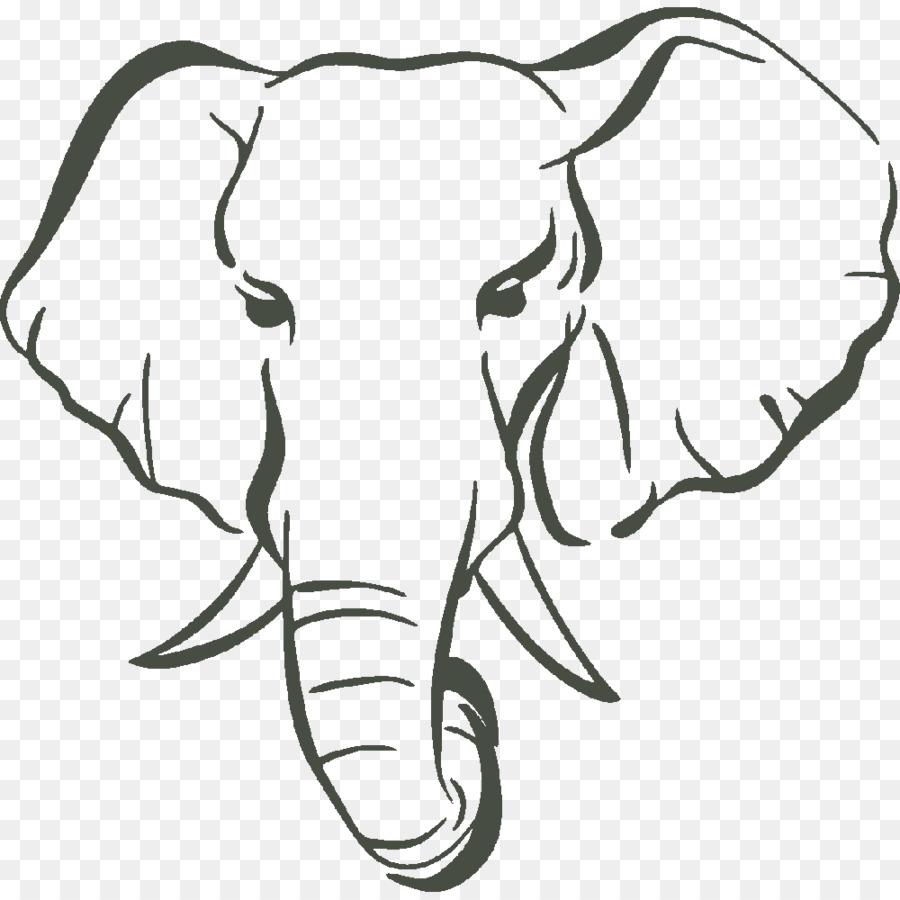 Asian elephant African bush elephant Elephants Clip art.