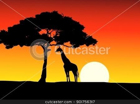 African sunset clipart.