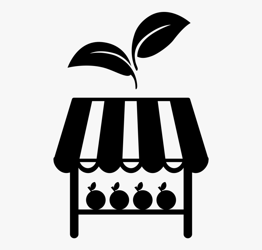 Farmers Market Clipart Black And White , Transparent.