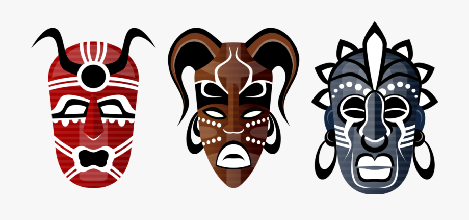African Tribal Mask Clipart.