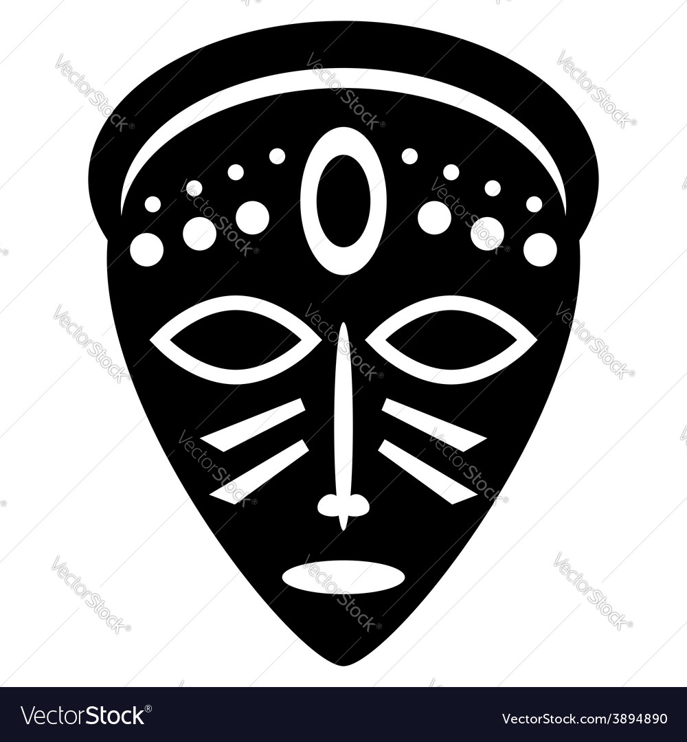 African Masks tribal design.