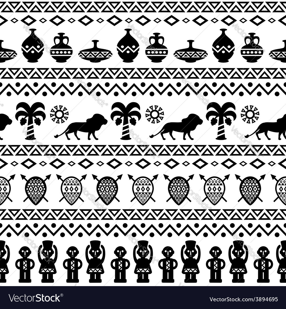 African Tribal Pattern Ethnic ornament.
