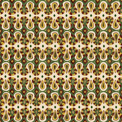 African tribal ethnic abstract seamless pattern in.