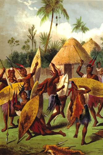 Tribal war dance.
