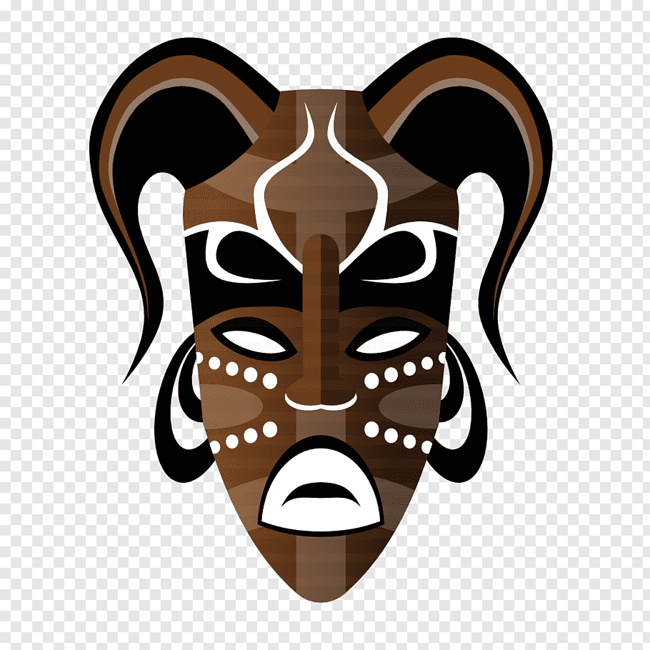 Brown tribal mask art, Traditional African masks, Mask free.