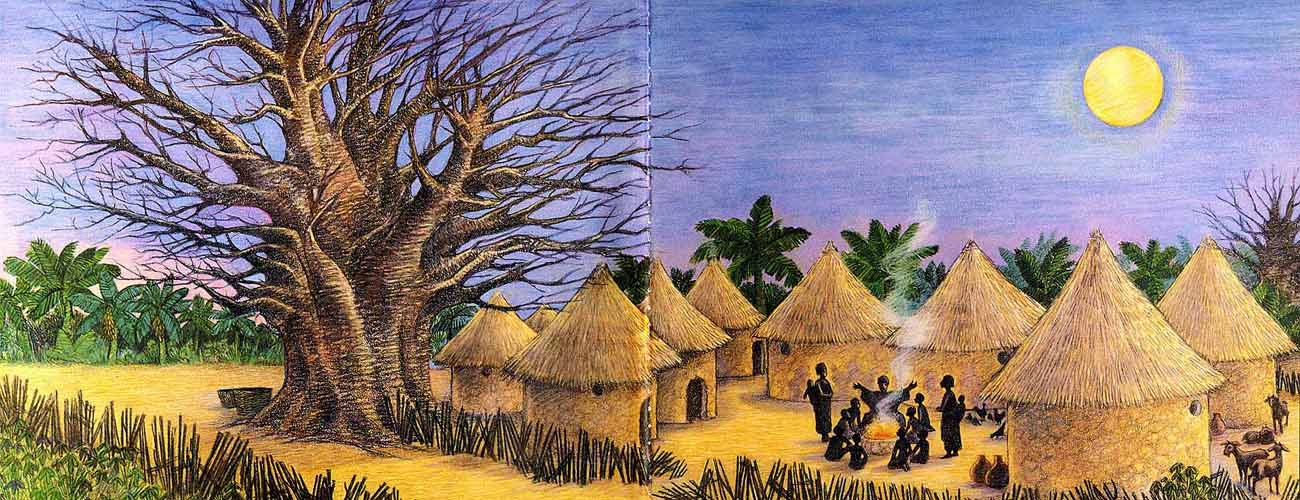 African Village Drawing at GetDrawings.com.