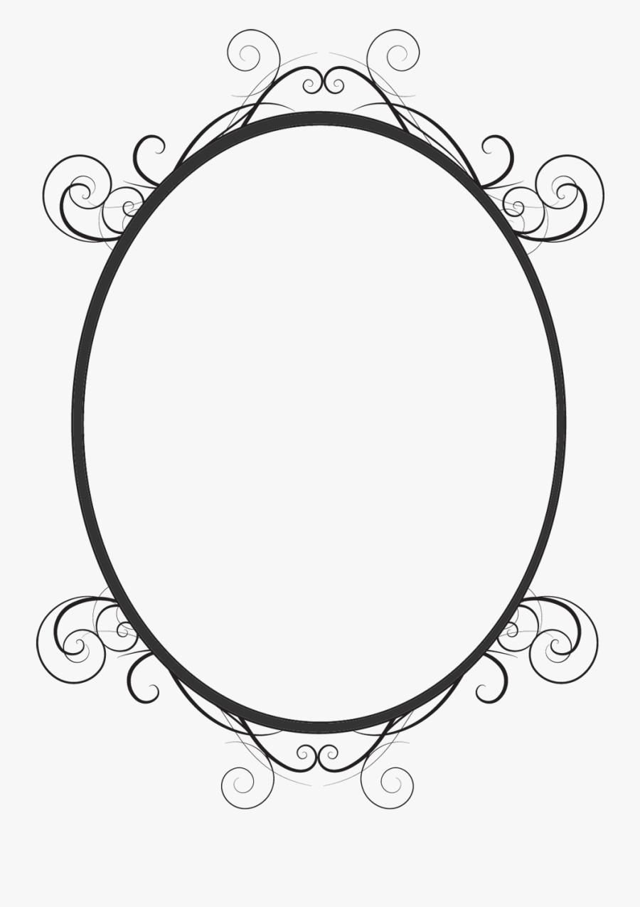 Black Oval Frame Png , Free Transparent Clipart.