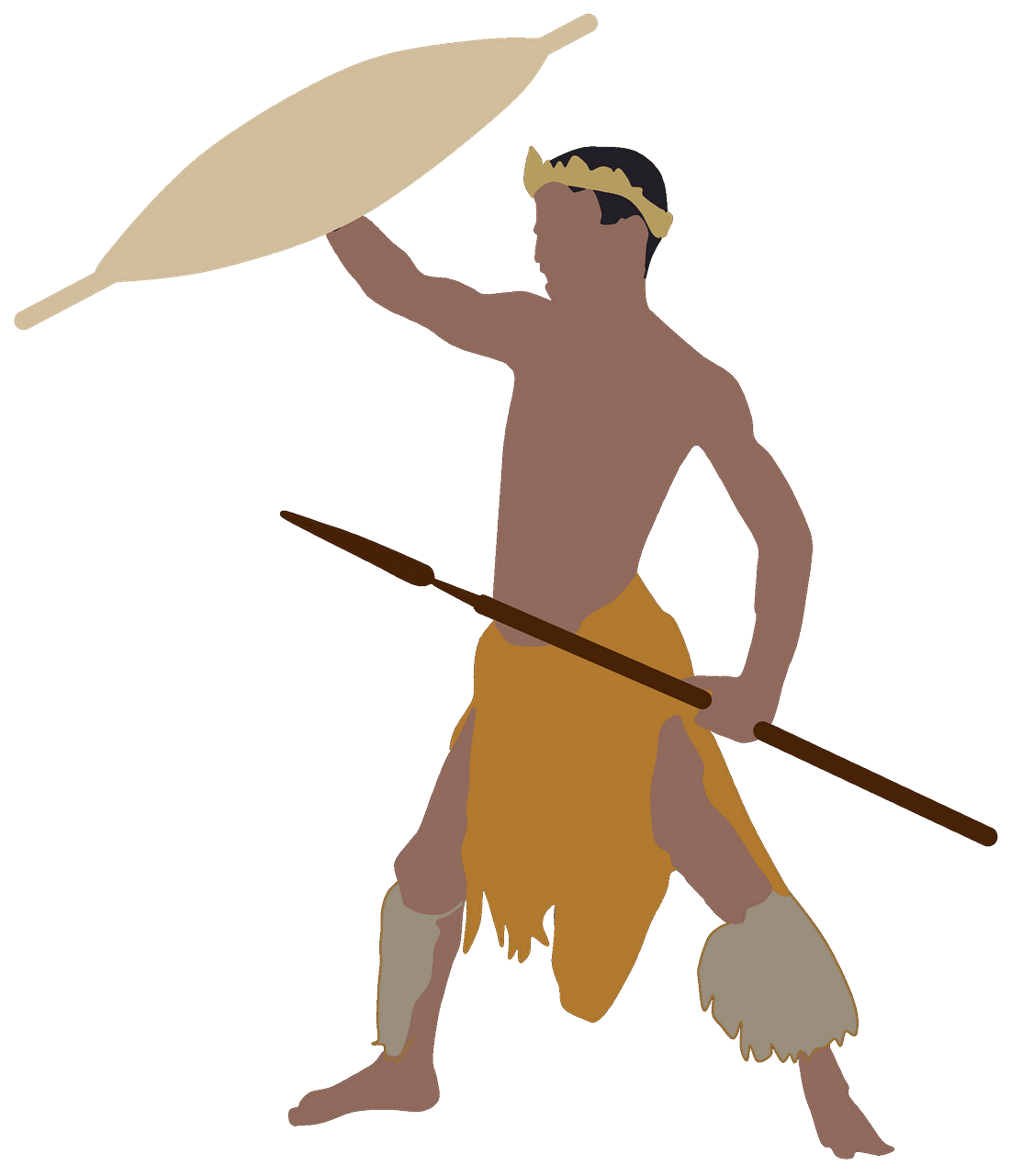African Warrior clipart. Free download..