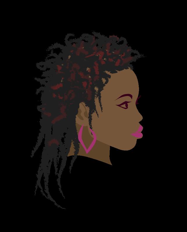 Africa Braid Woman Black Clip art.