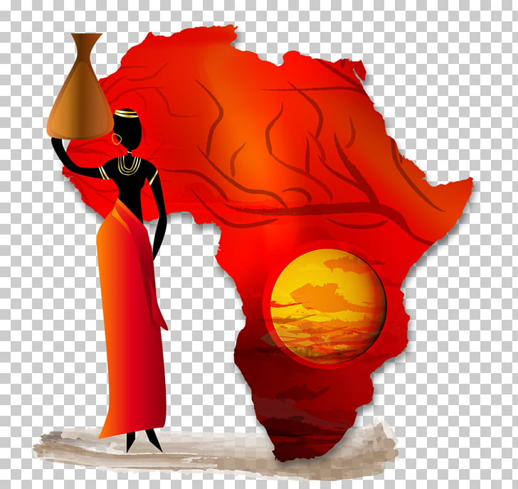 Africa Stock photography Globe Map, Africa, woman carrying.