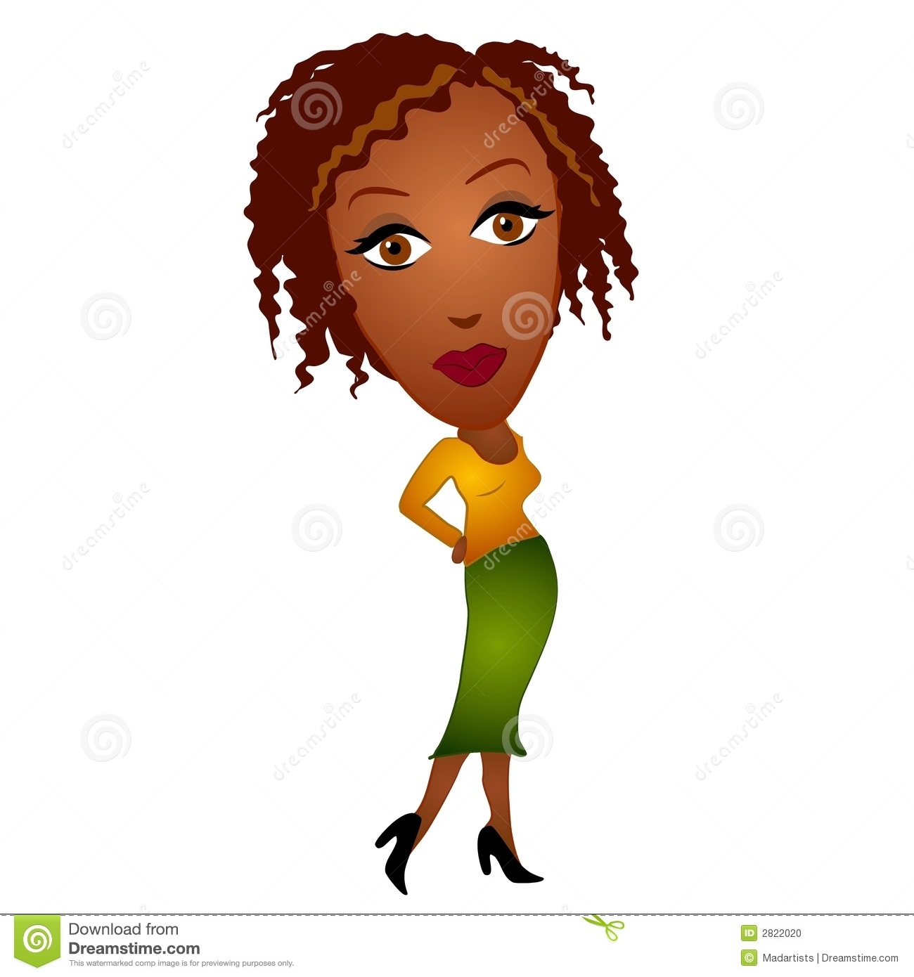 Black Woman Clipart.