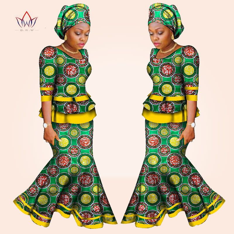 African Women Dresses For Women Riche Traditional Wax Print.