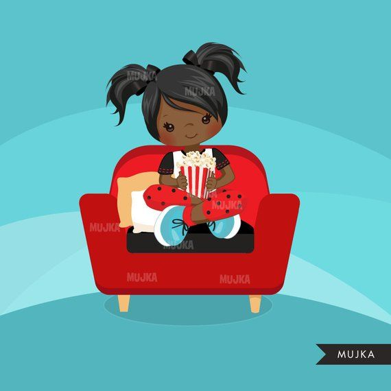 Movie night Clipart,movie birthday, black, card making.