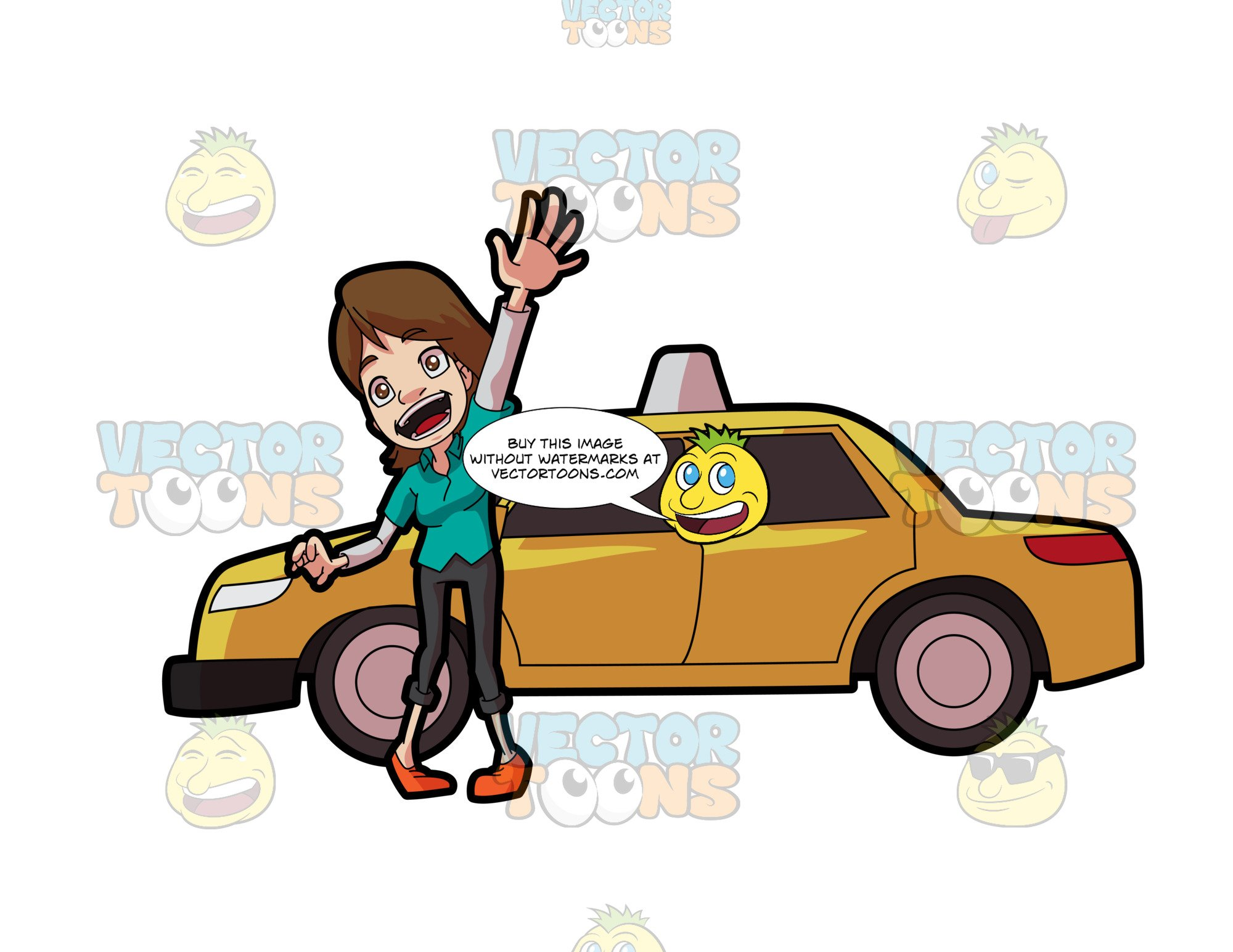 A Friendly Female Taxi Driver.
