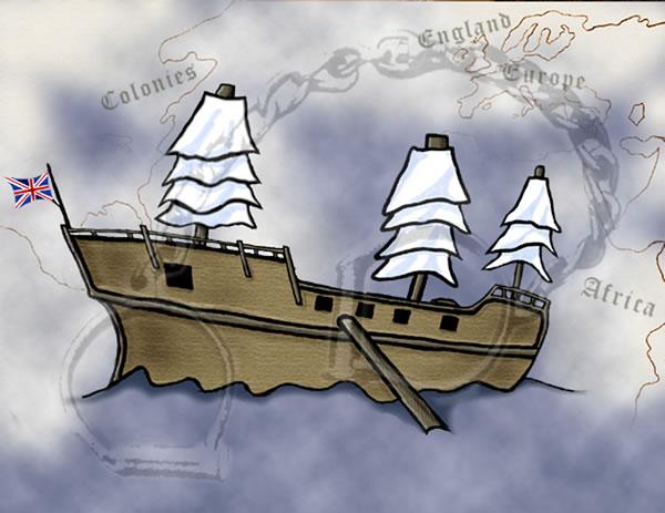 Slave Ship Clipart.