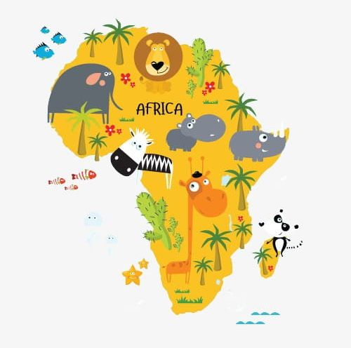 Map Of Africa PNG, Clipart, Africa Clipart, Animal, Cartoon.