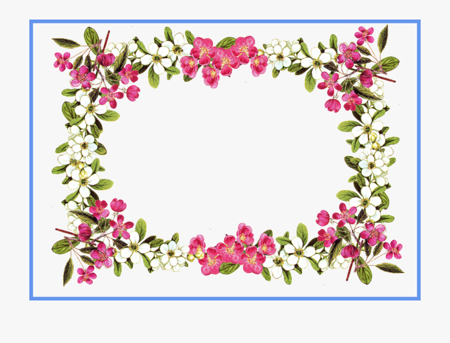 Flower Frame Clipart Com Free For Personal Use.
