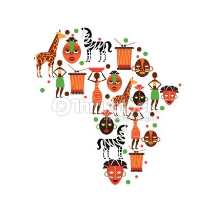 Clipart carte afrique.