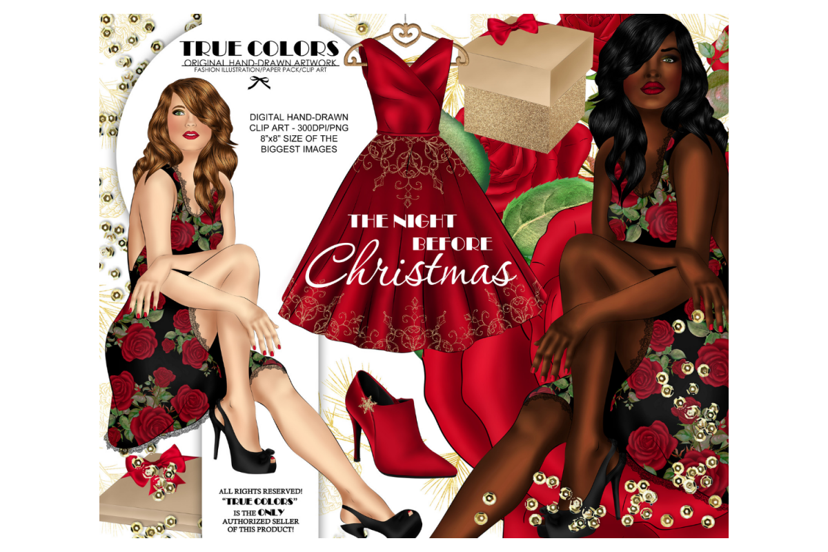 Christmas Clip art Afro American Clipart Christmas Clipart.