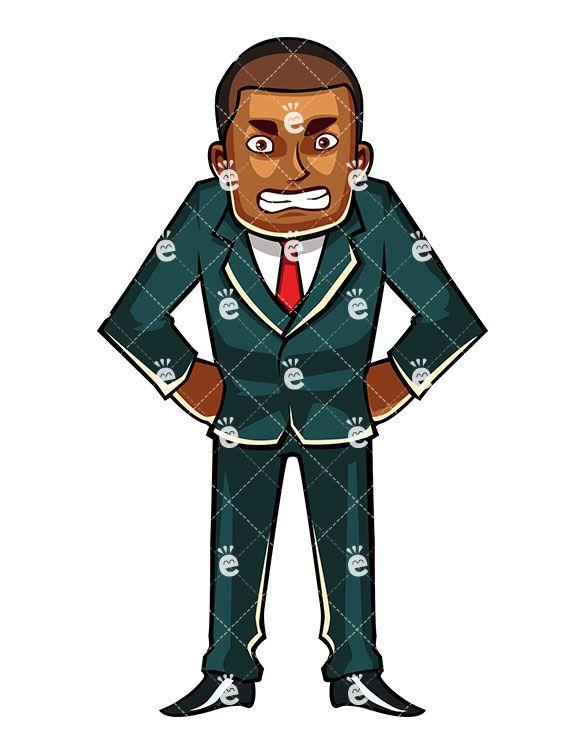 Pin on Black Businessman Clipart.