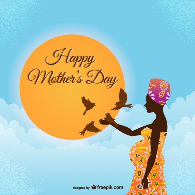 Happy mother\'s day african style Vector.