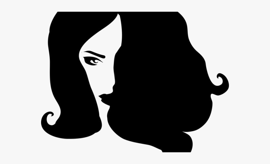 Dark Hair Clipart Transparent.