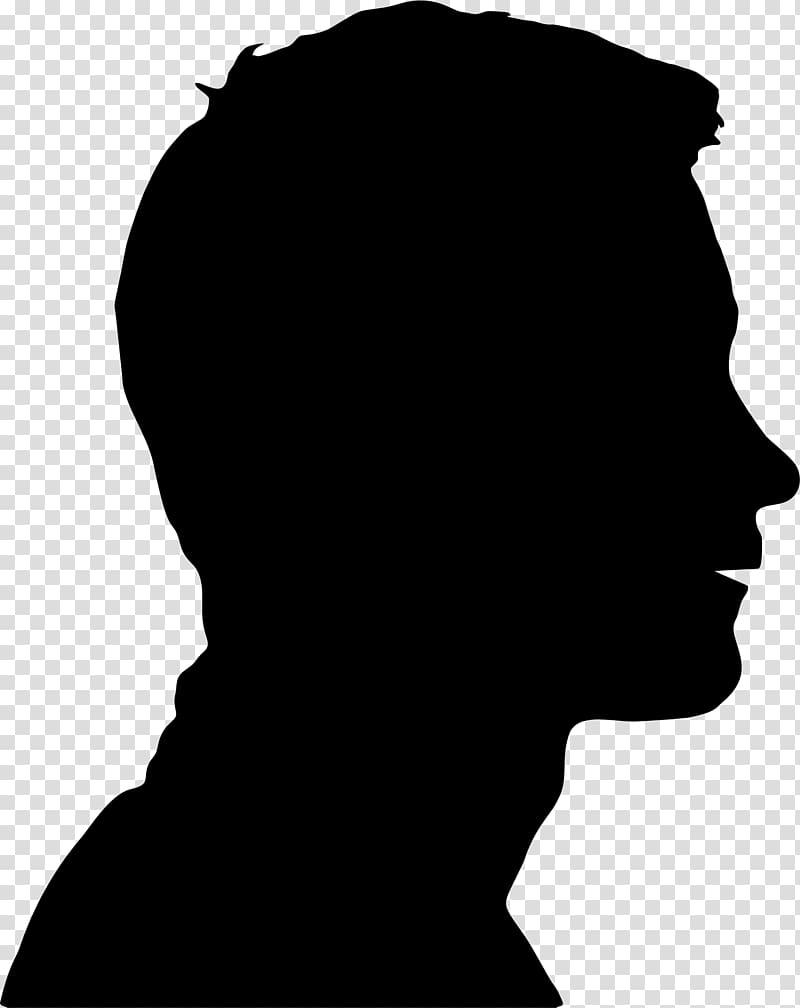 Human head Face Silhouette , man silhouette transparent.